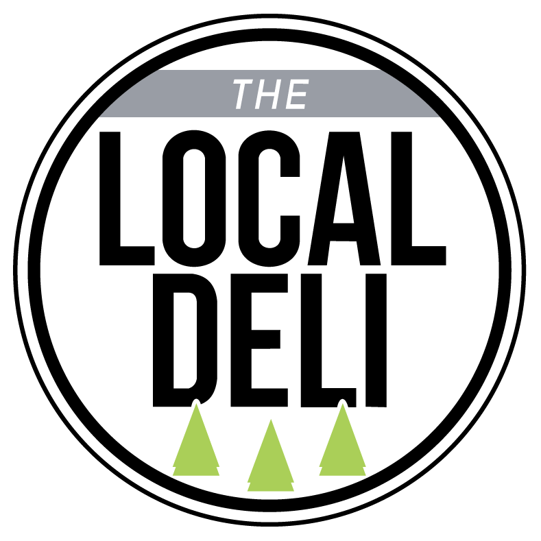Local Deli Circular Logo, three trees below local deli text.