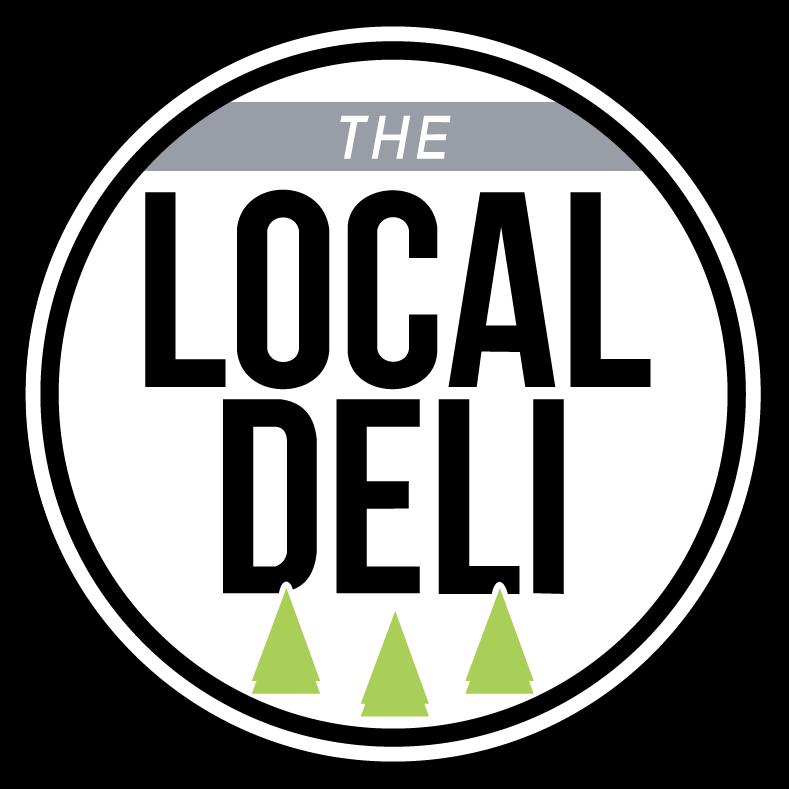 Local Deli Circular Logo, three trees below local deli text.